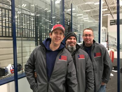 Mark, Chris and Robert of our RPF Board of Directors at the Northwell Health Ice Center for the FDNY Alumni vs. Ontario Fire hockey game.