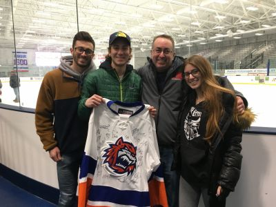 RPF Secretary Robert Ostrofsky, and his family, received a signed jersey.