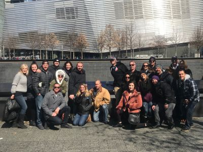 Before the puck dropped last night at the FDNY Alumni vs Ontario Fire hockey game, our RPF VP, Chris Howard, took the Ontario team and their families on a VIP tour of the September 11th Memorial & Museum. Along the way, the group stopped to pay their respects to Chris's dad, PO George Howard, who was killed on 9/11.