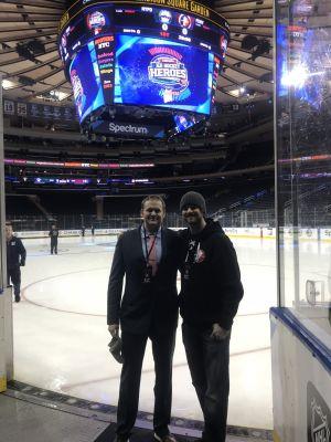 Chris with Luke Venker - owner and operator of 3E Goaltending.