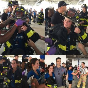 We can always count on Amy Freeze of ABC7 NY to show up and support The Ray Pfeifer Foundation. She even climbed the 80 flights at 3 World Trade Center as a member of the media. Her time was great too!