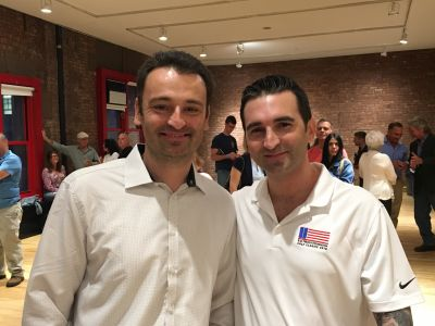 """Andrew Serra has been a NYC firefighter since 1998. He's also an author and the brother of our RPF board member Rob Serra. Andrew held his """"Finding John"""" book launch party at the New York City Fire Museum and donated all the proceeds from the night to our foundation. Thank you Andrew!"""