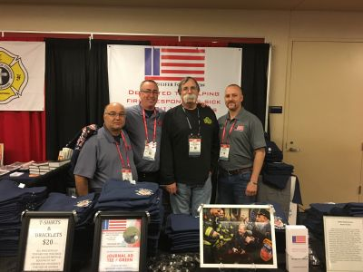 Chief Billy Goldfeder stopped by our booth & we thanked him for all the proceeds he donated to RPF from selling a special T-shirt.