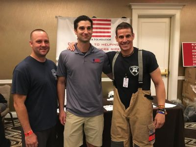 They also came from Spain for the NYC Memorial Stair Climb. Bradley Reppert (Engine 40 / Ladder 35) and Craig Paupst (RPF President & Engine 40 / Ladder 35) met this first responder who honored FF John Chipura of Engine 219.