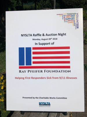 Every year the New York State Land Title Association holds a conference with an auction to raise money for a select organization. This year they picked The Ray Pfeifer Foundation to help us help our first responders who are sick from 9/11. Thanks to Kathy Roper Aspenleiter, Monica Malagon, the Charitable Works Committee and everyone at NYSLTA for their tremendous fundraising efforts!