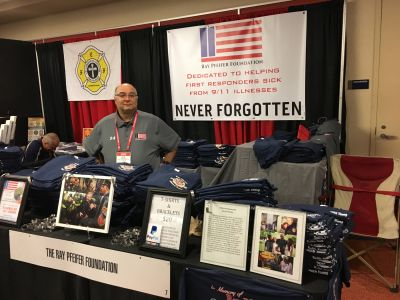 Joe Tisbe, our RPF Treasurer, sold lots of Ray Pfeifer memorial T-shirts throughout the weekend.