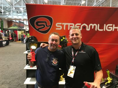 Robert checked out the latest gadgets with Josh Commoss at Streamlight while raising awareness of our mission at the Firehouse Expo in Nashville.