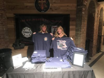 Marion & Kathleen sold a ton of shirts before The Lords of 52nd Street concert.