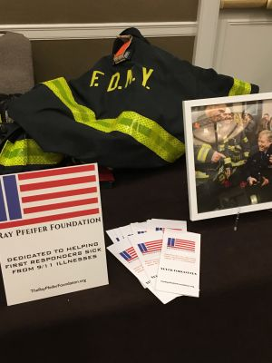 We were ready to share our mission with the 400+ first responders before they walked over to 3 World Trade Center to climb 80 fights.