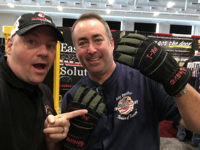 Robert's sporting some cool structural and extrication gloves with Jumpseat's Ryan Pennington. Ryan is a Lieutenant/Paramedic currently serving with the Charleston WV Fire department.