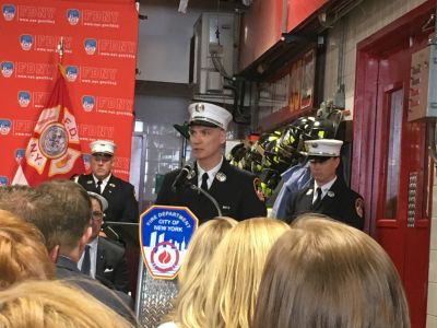 Captain Sean Newman worked with Ray at Engine 40/Ladder 35 for 19 years.